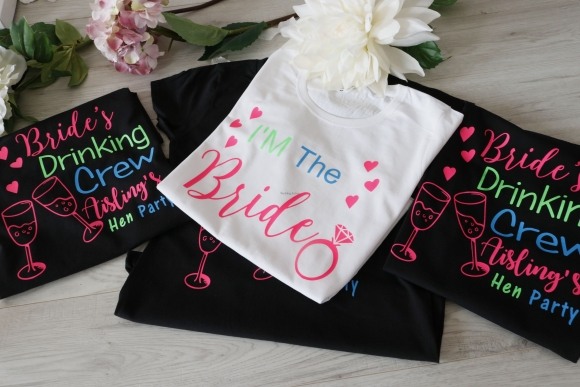 BRIDE'S DRINKING CREW HEN PARTY T SHIRTS