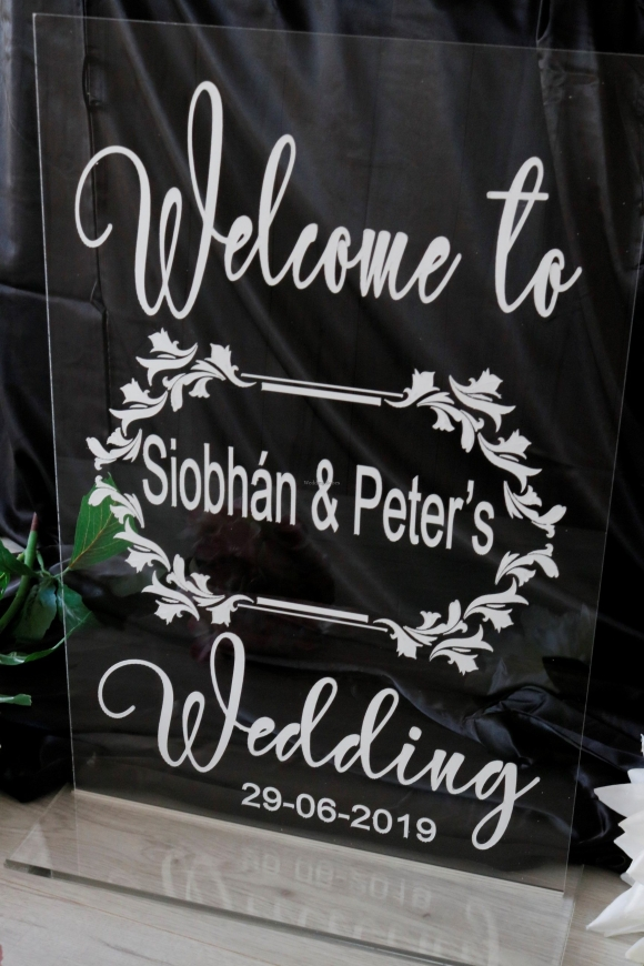 Welcome Wedding Sign Personalised