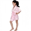 Flower Girl Friends Theme Satin Robe