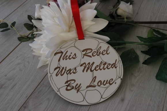 Football Wedding Sign Cork Rebel Page Boy or Flower Girl Sign