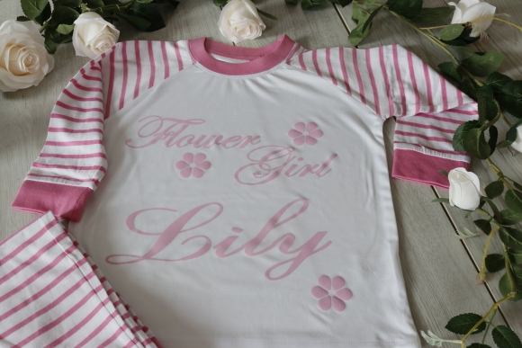 FLOWER GIRL COTTON PYJAMA SET