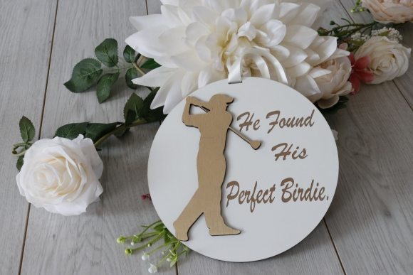 Golfer Wedding Sign