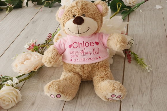 Will you be our flower girl personalised Teddy Bear
