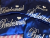 Royal Blue Satin Bridal Party Robe