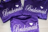 Affordable Purple Satin Bridal Party Robe