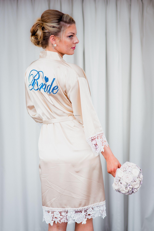 Bridesmaid Brides Designer Wedding Robes Vintage Wedding Robes Wedding Morning Robes Bridal Party Dressing Gown Bridesmaid Bathrobe Personalised Bridesmaid Robe