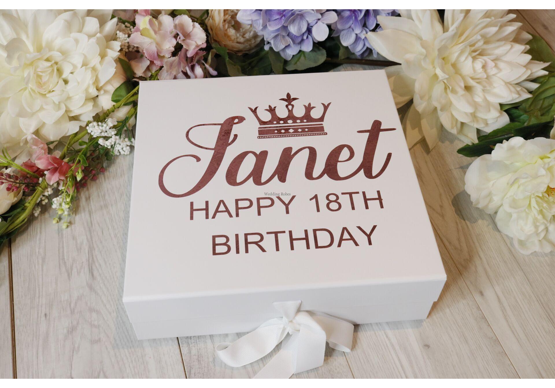 Personalised Keepsake Birthday Box 18th Birthday 21st Birthday 30th Birthday