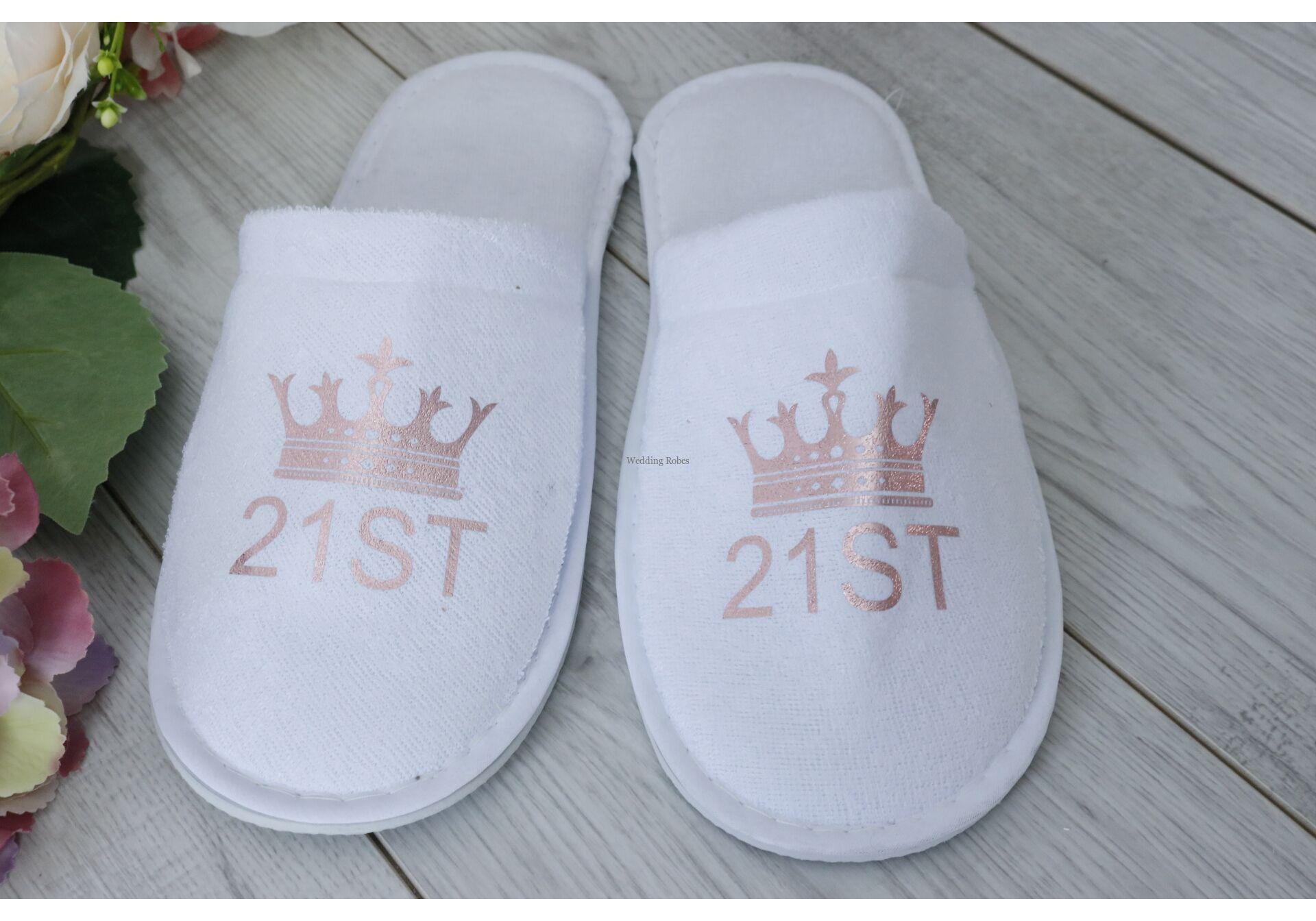 21st Birhtday Personalised Robe Gift Set